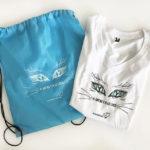 Material publicitario para la asociación Katubihotz, mochilas y camisetas.