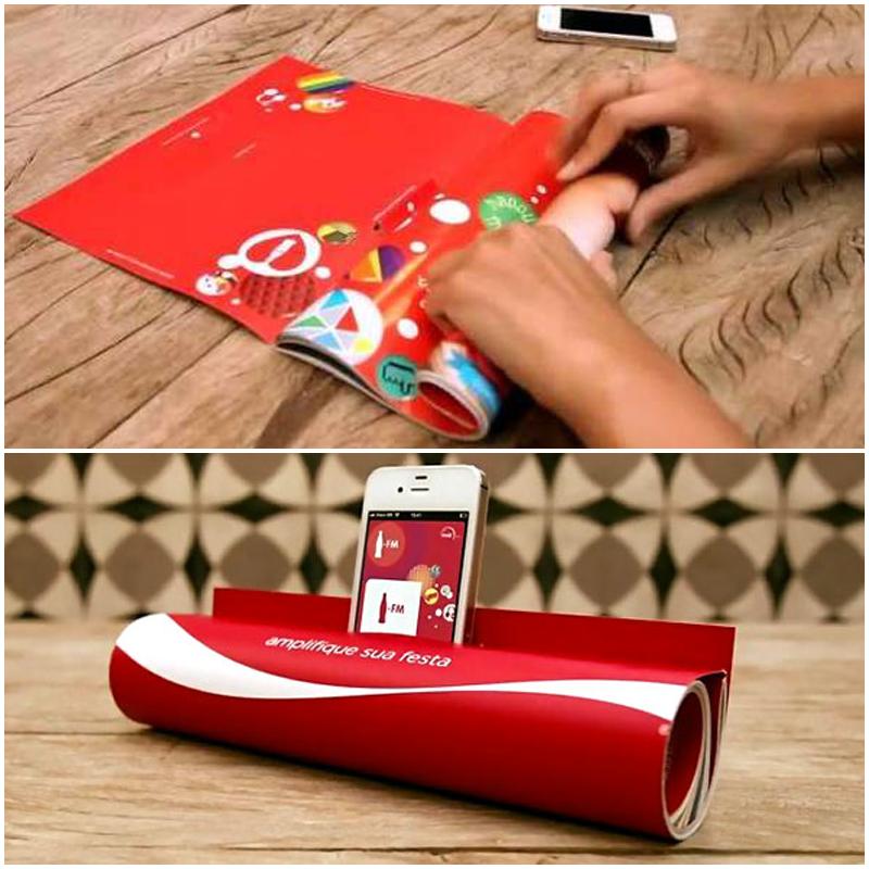 Coca Cola en papel