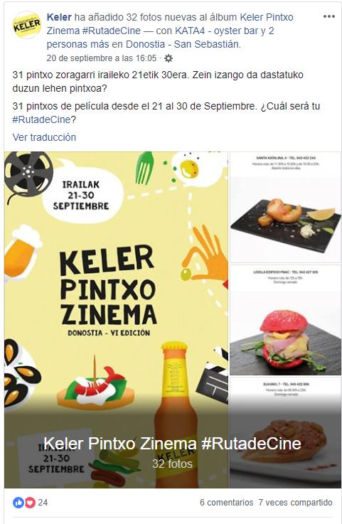 Ruta del Cine Keler Zinemaldia marketing