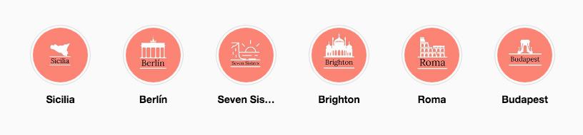 Portadas personalizadas iconos de viajes