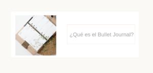 ¿Qué es el Bullet Journal?
