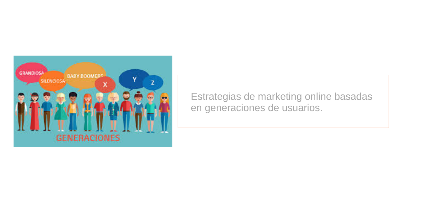 Estrategias de marketing online basadas en generaciones de usuarios.