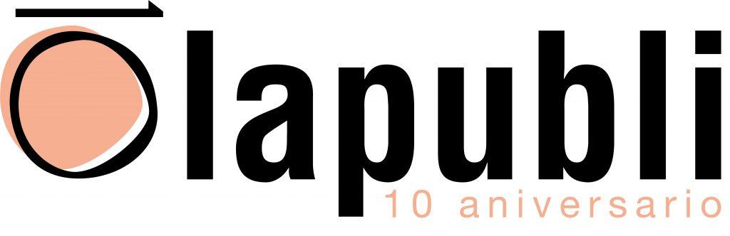 Logo del aniversario de Lapubli