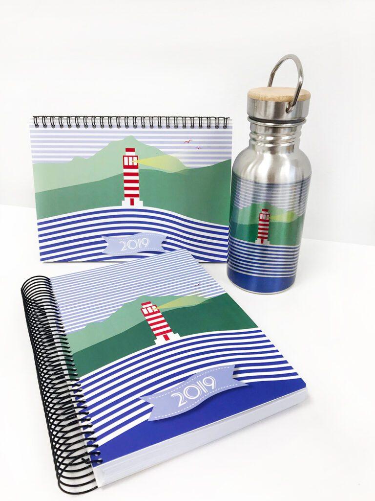 Agendas, calendarios y lechera de Lapubli